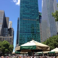 Photo taken at Bryant Park Grill by Dan S. on 6/4/2013