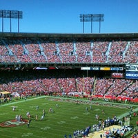 Photo taken at Candlestick Park by Becky B. on 10/7/2012