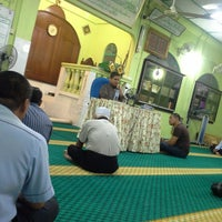 Photo taken at Masjid Kompleks Pertanian Serdang by Mohd F. on 10/21/2013