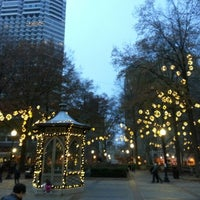 Photo taken at Rittenhouse Square by Shangchun Y. on 12/2/2012