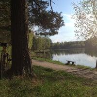Photo taken at Bābelītes ezers by Vineta R. on 5/16/2013