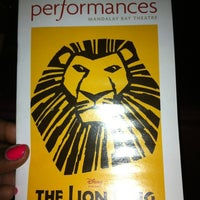 Photo taken at THE LION KING in Las Vegas by Jessica E. on 10/27/2011
