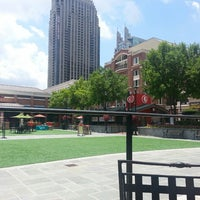 Photo taken at Atlantic Station Central Lawn by Edgardo C. on 6/11/2013