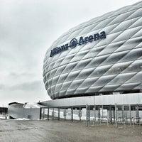 Photo taken at Allianz Arena by Jason Tse on 1/28/2013