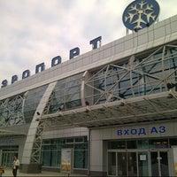 Photo taken at Tolmachevo International Airport (OVB) by Ivan M. on 6/11/2013