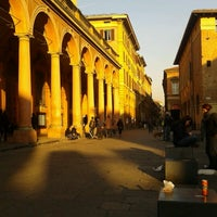 Photo taken at Piazza Verdi by Anna E. on 1/7/2013