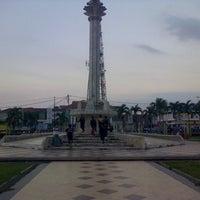 Photo taken at Alun-Alun Karawang by Agiel A. on 7/15/2014