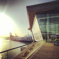 Photo taken at Jack Poole Plaza by Evan H. on 4/22/2013