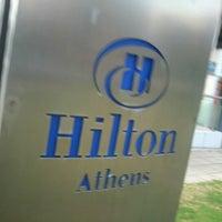 Photo taken at Hilton Athens by Chris F. on 1/23/2013