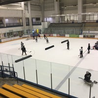 Photo taken at Ice Centre at the Promenade by Jay K. on 8/19/2016