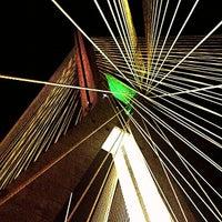 Photo taken at Ponte Octávio Frias de Oliveira (Ponte Estaiada) by Karem D. on 10/15/2012