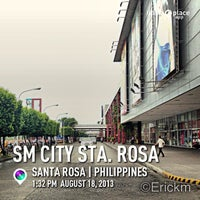 Photo taken at SM City Sta. Rosa by Eric M. on 8/18/2013