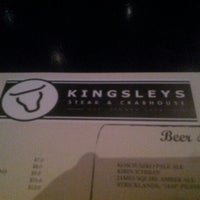 Photo taken at Kingsleys Steak & Crabhouse by William B. on 1/5/2013