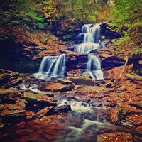 Photo taken at Ricketts Glen State Park by Aaron C. on 10/19/2012