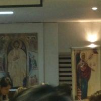 Photo taken at Centro de Evagelização Comunidade Católica Shalom by Willian A. on 6/1/2014
