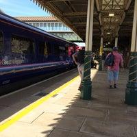 Photo taken at Weston-super-Mare Railway Station (WSM) by Steve K. on 6/21/2015