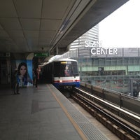 Photo taken at BTS Siam (CEN) by Demid M. on 4/14/2013