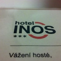 Photo taken at Hotel INOS Prague by Alessandro R. on 5/17/2013