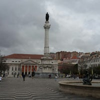 Photo taken at Rossio Square by Dmitry B. on 6/18/2013
