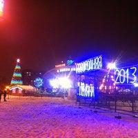 "Photo taken at Площадь перед ЛДС ""Кристалл"" by Алексей М. on 1/6/2013"