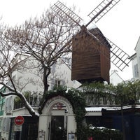 Photo taken at Le Moulin de la Galette by lybik on 1/21/2013