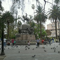 Photo taken at Plaza 9 de Julio by Cynthia S. on 10/14/2013