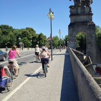 Photo taken at Wittelsbacherbrücke by Alexander S. on 7/22/2013
