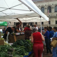 Photo taken at Copley Square Farmer's Market by Chris H. on 7/12/2013