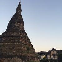 Photo taken at That Dam Stupa by Liftildapeak W. on 2/9/2016