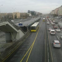 Photo taken at Avcılar Metrobüs Durağı by Ünsal K. on 3/15/2013