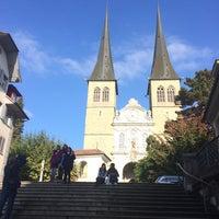 Photo taken at Hofkirche by Katen K. on 10/15/2016