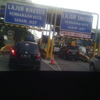Photo taken at Gerbang Tol Pasteur by Siska M. on 3/28/2013