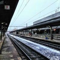 Photo taken at Železniční stanice Praha-Holešovice by Vít C. on 2/21/2013