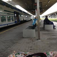 Photo taken at Roma Ostiense Railway Station (IRR) by Giordana A. on 4/27/2013