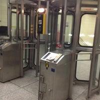 Photo taken at Lansdowne Subway Station by Jen C. on 1/16/2013