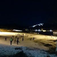 Photo taken at Fossum Idrettspark by Christopher G. on 3/13/2014