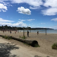 Photo taken at Kits Beach Basketball Courts by L B. on 7/4/2016