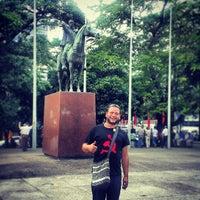 Photo taken at Plaza Bolivar, San Cristobal by Jose D. on 8/25/2013