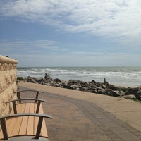 Photo taken at Fort Crockett Seawall Park by Rose L. on 3/28/2013