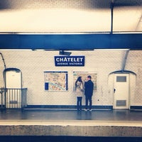 Photo taken at Métro Châtelet [1,4,7,11,14] by Gustavo R. on 6/19/2013