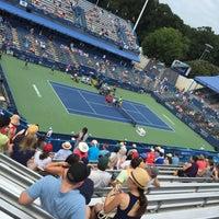 Photo taken at William H.G. Fitzgerald Tennis Stadium by Mari S. on 8/9/2015