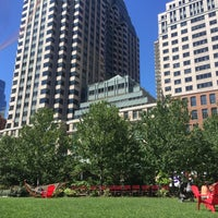 Photo taken at The Rose Kennedy Greenway by Kelly S. on 9/5/2015