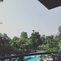 Photo taken at Pavilion Rim Kwai Resort Kanchanaburi by Krisana L. on 5/1/2016