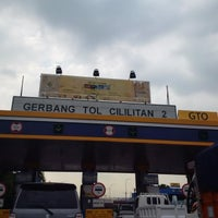 Photo taken at Gerbang Tol Cililitan by Diana S. on 6/20/2016