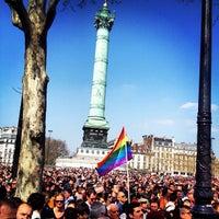 Photo taken at Place de la Bastille by Seyed M. on 4/21/2013