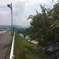 Photo taken at 仁保橋 (Nihobashi Brg.) by ちから 👹 か. on 8/15/2016