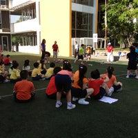 Photo taken at Bina bangsa school stadium by Melinda S. on 3/21/2013