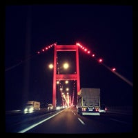 Photo taken at Fatih Sultan Mehmet Bridge by Murat D. on 7/23/2013