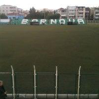 Photo taken at Bornova Stadı by zehranur g. on 1/20/2013