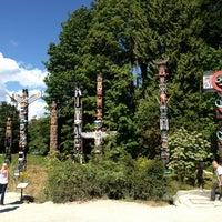 Photo taken at Totem Poles in Stanley Park by Benjamin L. on 7/28/2013